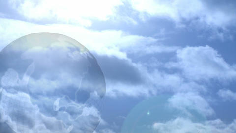 Globe and Clouds Animation