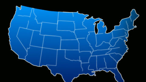 USA Map Veins Growth Stock Video Footage