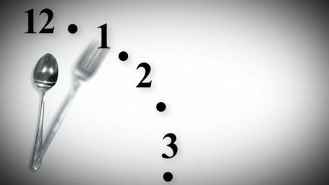 Dinnertime Clock Seamless Stock Video Footage