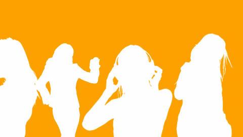 Orange Dancers Animation