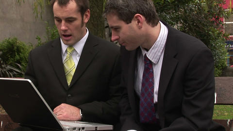 Two Men Businessmen Working as a team Footage