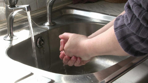 Woman Washing Her Hands Stock Video Footage