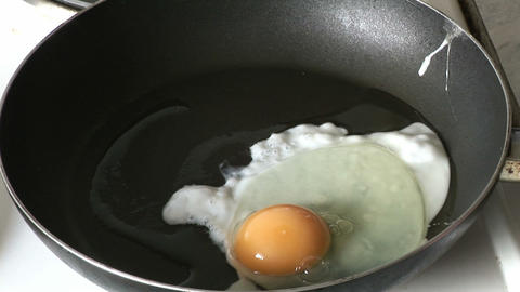 Cooking an Egg Footage
