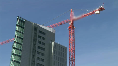 Time Lapse Of Crane At Work stock footage