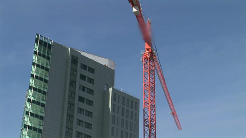 Time Lapse of Crane at Work Stock Video Footage