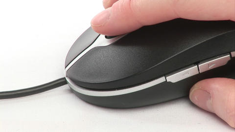 A woman using a Mouse Footage