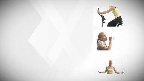 Woman and Fitness Animation