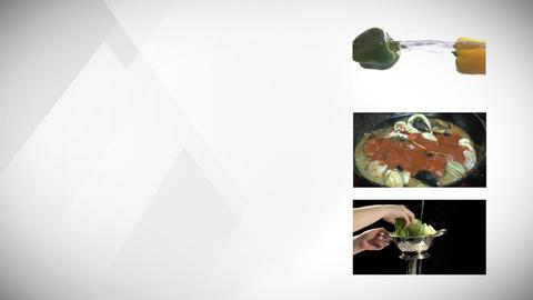 Vegetable Montage Stock Video Footage