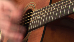 Playing Accoustic Guitar Stock Video Footage