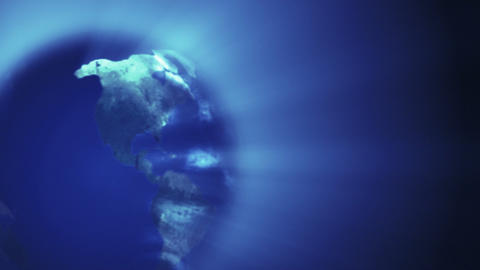 Globe and Shine Effect Animation