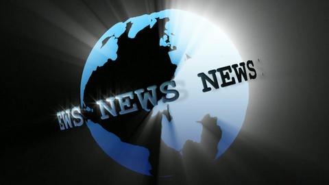 News Broadcast Globe Seamless Stock Video Footage