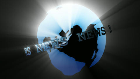 News Broadcast Globe Seamless Animation