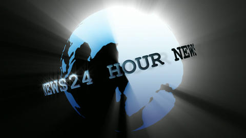 News Broadcast Globe Seamless 3 Animation