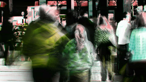 Abstract crowd walking 2 Stock Video Footage