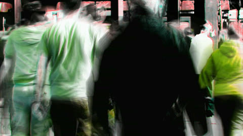 Abstract crowd walking 2 Footage