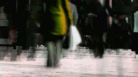 Abstract crowd walking 4 Stock Video Footage