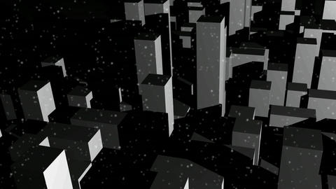 Snow Covered City Footage