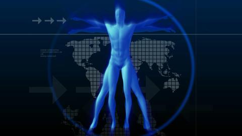 Vitruvian man Stock Video Footage