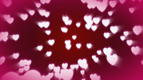 CGI Hearts Falling Stock Video Footage