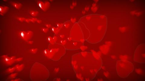 CGI Hearts Falling Animation
