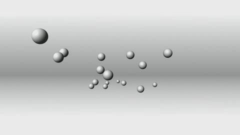 CGI Golf Balls stock footage