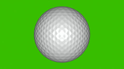 3D Animation of a Golf Ball Stock Video Footage