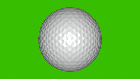 3D Animation of a Golf Ball Footage
