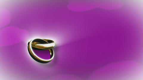 3D Animation of a Wedding Ring Footage