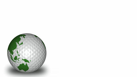 Spinning Golf Ball Stock Video Footage