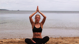 Yoga workout 04 Stock Video Footage