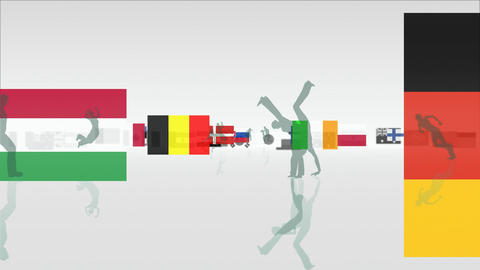 Sports Flags Stock Video Footage