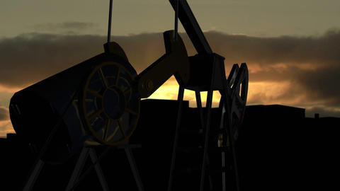 Drilling of oil Animation