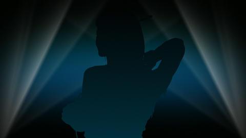 Spotlight Dancer 3 Stock Video Footage