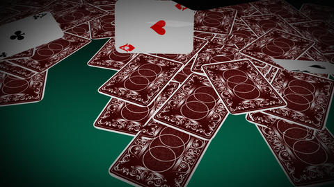 Four Poker Aces Stock Video Footage