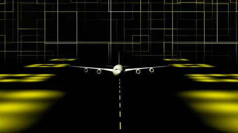 CGI Plane Taking off Stock Video Footage