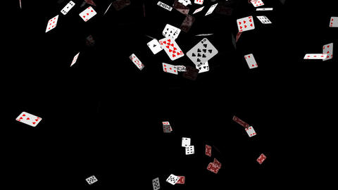 Poker Cards Falling Animation