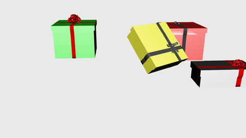 3D Falling Christmas Presents 4 Animation