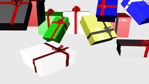 3D Falling Christmas Presents 4 Stock Video Footage