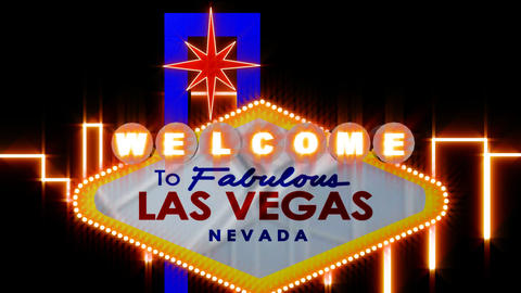 Las vegas Sign Animated Stock Video Footage