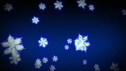 3D Snowflakes Falling Animation