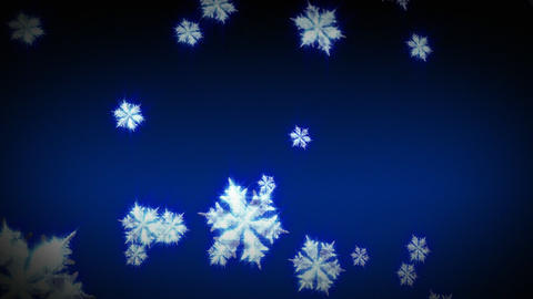 3D Snowflakes Falling Stock Video Footage