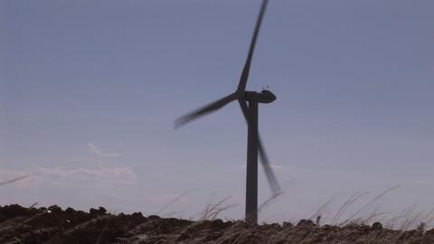 Wind Turbine in Motion Footage