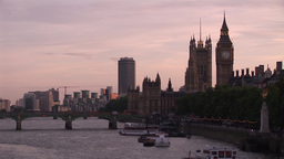 London City showing Big Ben Stock Video Footage