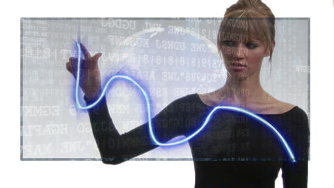 Businesswoman showing a graph Footage