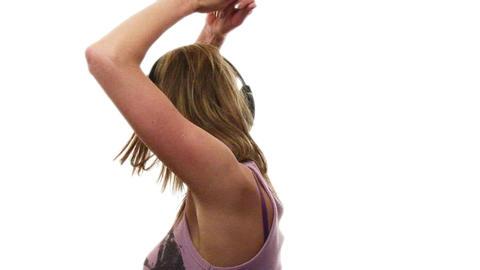 Beautiful Teenager Dancing Stock Video Footage