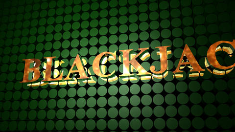 Blackjack Poker Sign Animation