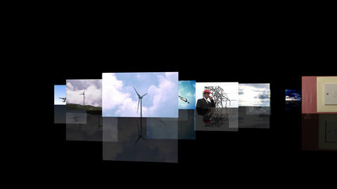 Renewable Energy Montage Stock Video Footage