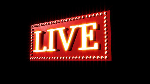 Live Music Sign Footage