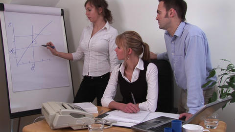 Teamwork from a Office Workers Stock Video Footage