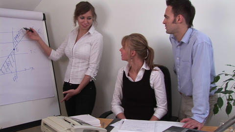 Company Presentation by Office Workers Footage